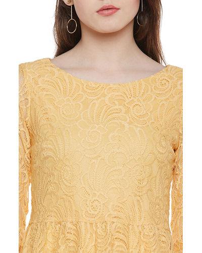 Dandelion Back Buttoned Lace Top