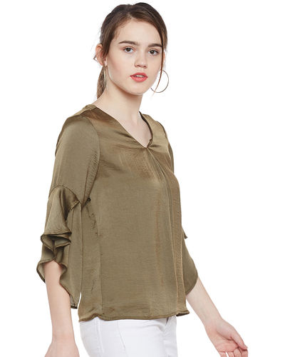 Olivine Bell Sleeves Top
