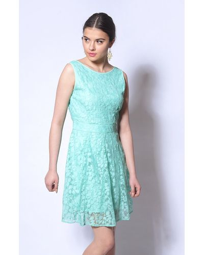 Pool Blue Lace Dress