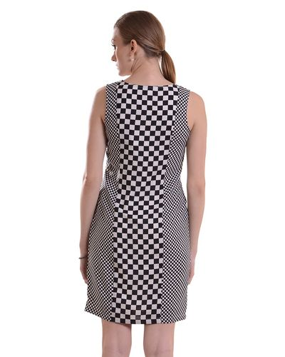 Artsy Checkered Dress