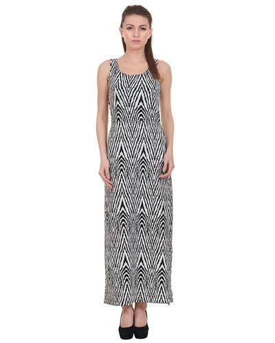 Zig-Zag Print Maxi Dress