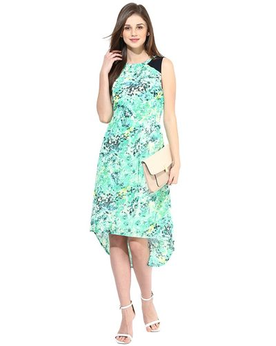 Printed High Low Dress