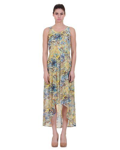 Printed High Low Dress