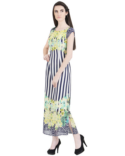 Nautical Flora Green Dress