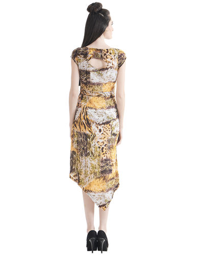 Golden Ray Sheath Dress