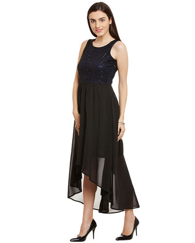 Noir Sequin Maxi Dress
