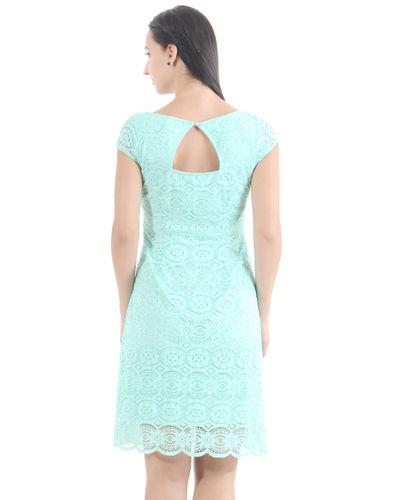 Aquamarine Lace Dress