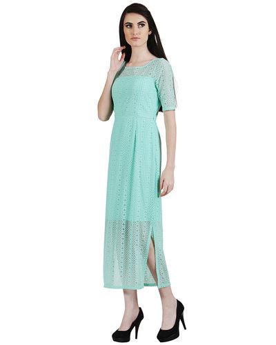 Aquamarine Lace Maxi Dress