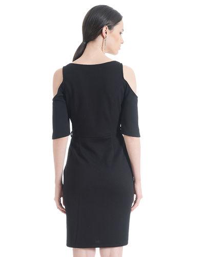 Noir cold Shoulder  Dress