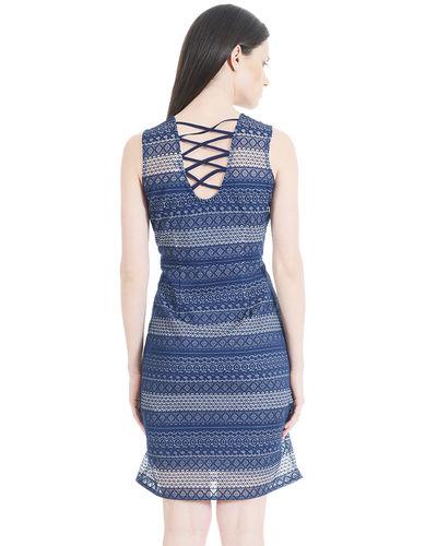 Dark Cerulean shift Dress