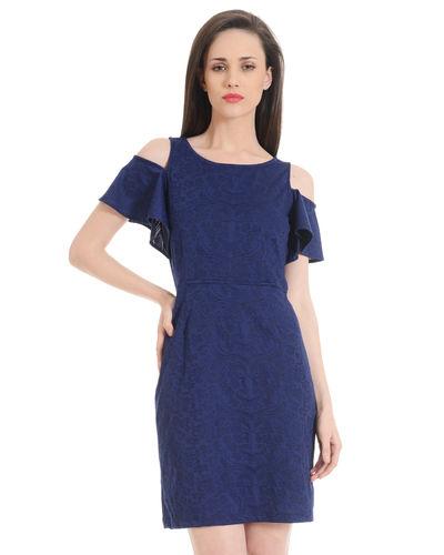 Cobalt Cold Shoulder Dress