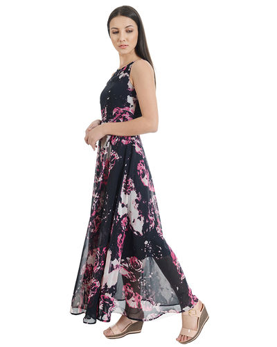 Grape Slush Fit & Flare Maxi Dress