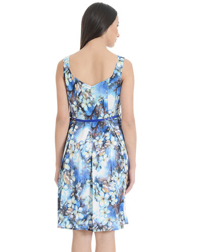Flora Fauna Blue Shift Dress