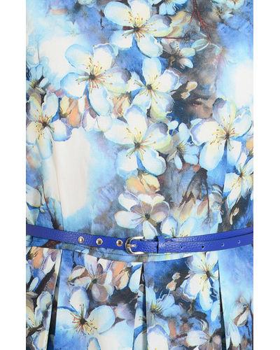 Flora Fauna Blue Shift Dress