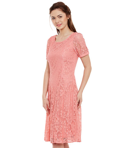 Pearl Pink Lace Dress