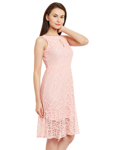 Powder Pink Shift Dress