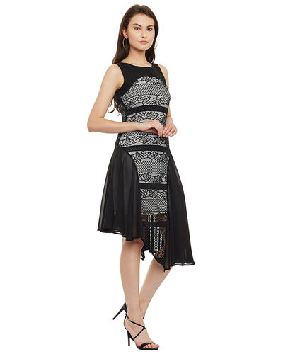 Noir Bonded Asymmetric Dress