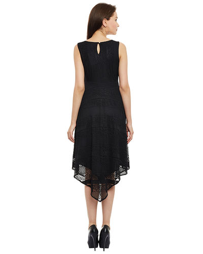 Noir Asymmetric Dress