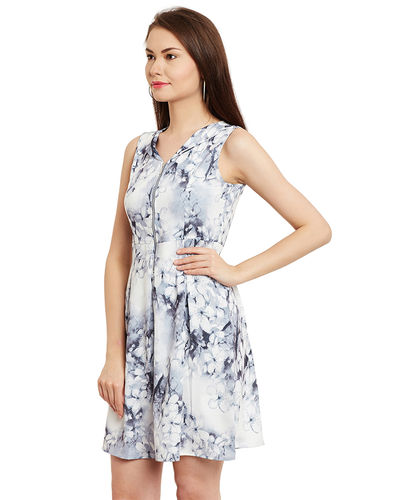 Split Collar Floral Shift Dress