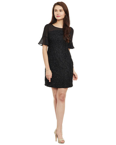Noir Luxe Short Dress