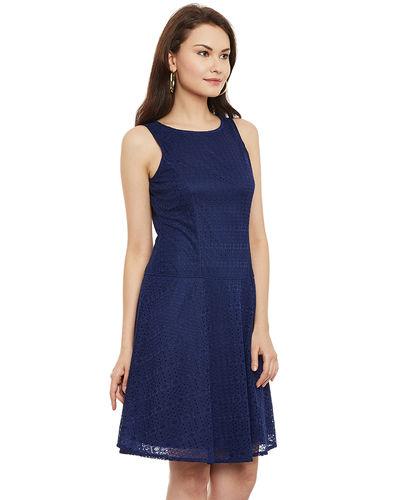 Knight Blue Lace Dress