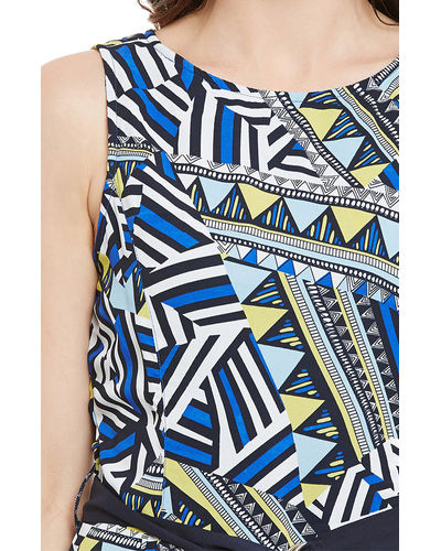 Aztec Print Hi-Lo Dress