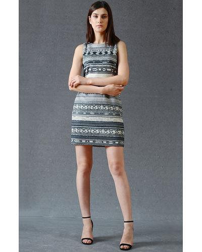 Smoke Gray Cross-Back Dress