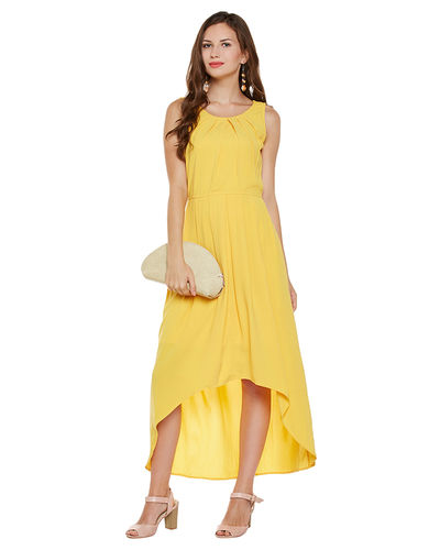Sunshine Yellow Hi-Lo Dress