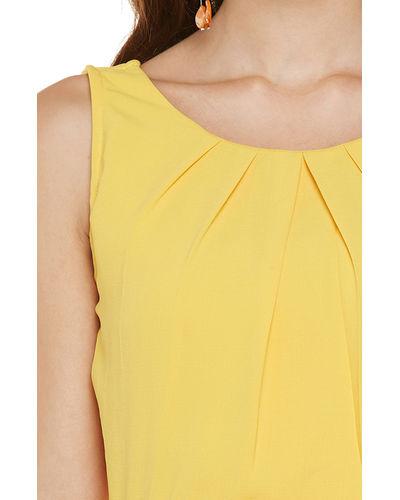 Sunshine Yellow Hi-Lo Dress