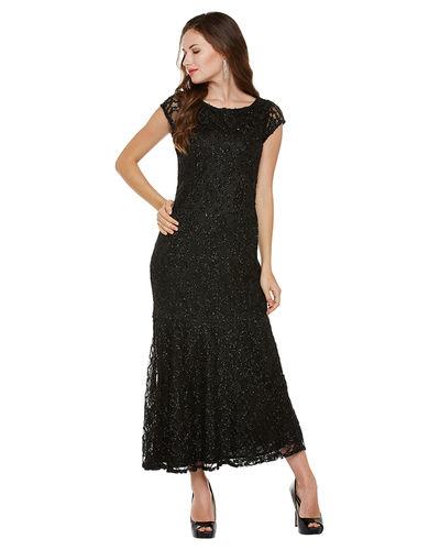 Noir Lurex Maxi Dress