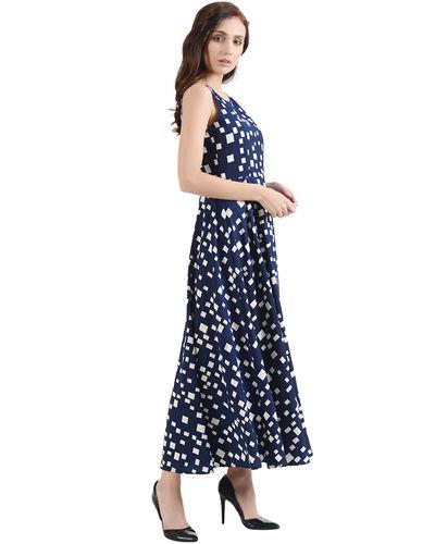 Indigo Pixeled Maxi Dress