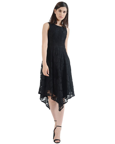 Noir Sheer Assymetric Dress