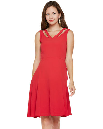 Venetian Red Skater Dress