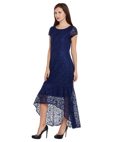 Indigo Hi-Lo Dress