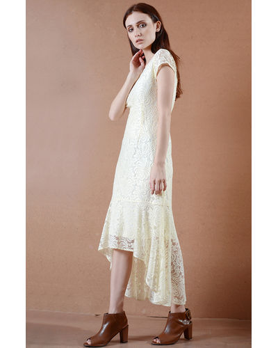 Ivory Victorian Lace Dress