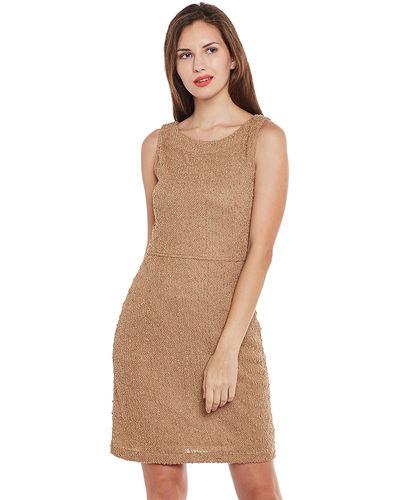Tan Textured Short Dress