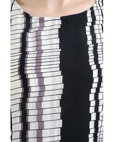 Patterned Striped Hi-Lo Maxi Dress