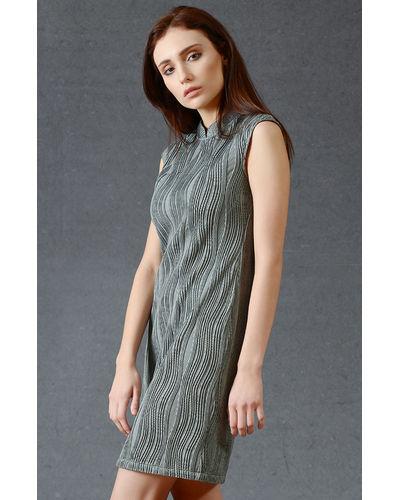 Stone Grey Short Dress