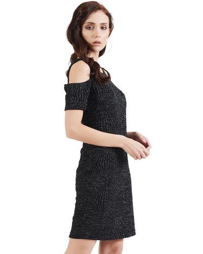Noir Cold Shoulder Luxe Dress