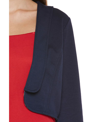 Midnight Blue Crop Shrug