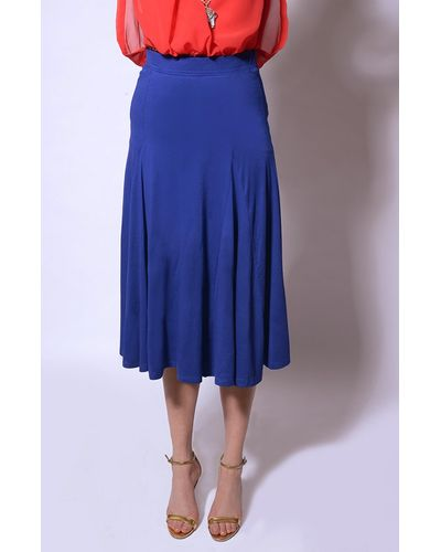 Pleated Blue Skirt
