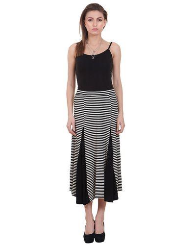 Knit Striped Skirt