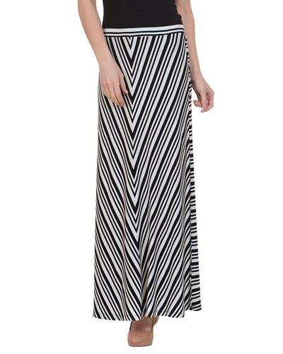 Zig Zag Print Maxi Skirt