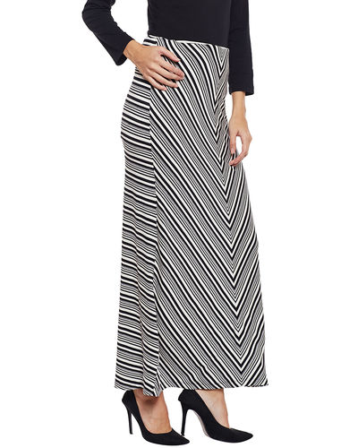 Monochrome Straight Skirt