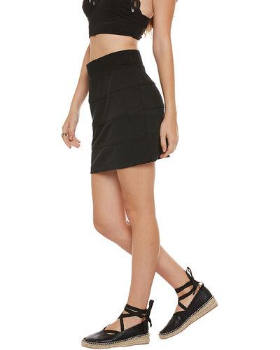 Noir Pleated Short Skirt