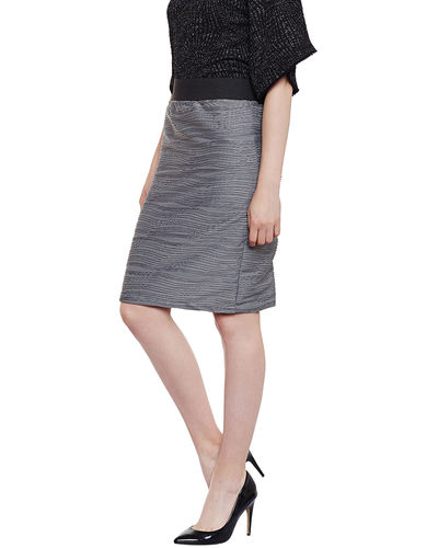 Stone Grey Straight Skirt