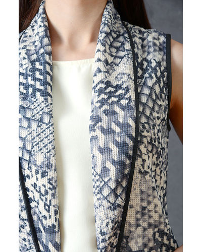 Smoke Grey Patterned Shrug