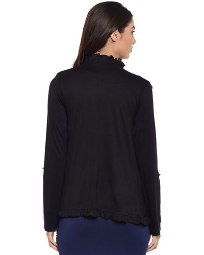 Noir Full Sleeves Shrug