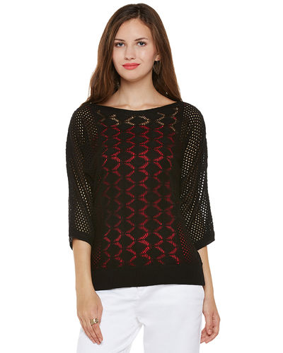 Noir Patterned Sweater