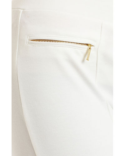 Ivory Zipper Leggings